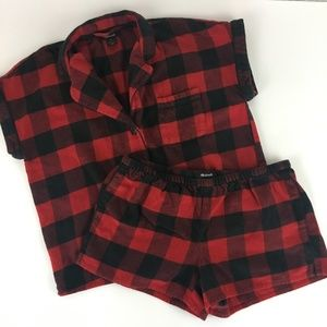 Madewell buffalo plaid shorts pajama set